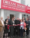 Nicky Morgan MP opens latest Dream Doors showroom in Leicestershire