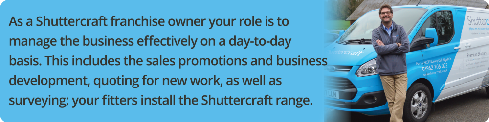 Shuttercraft Franchise | Window Shutter Business