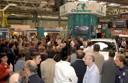 A busy on-stand demonstration