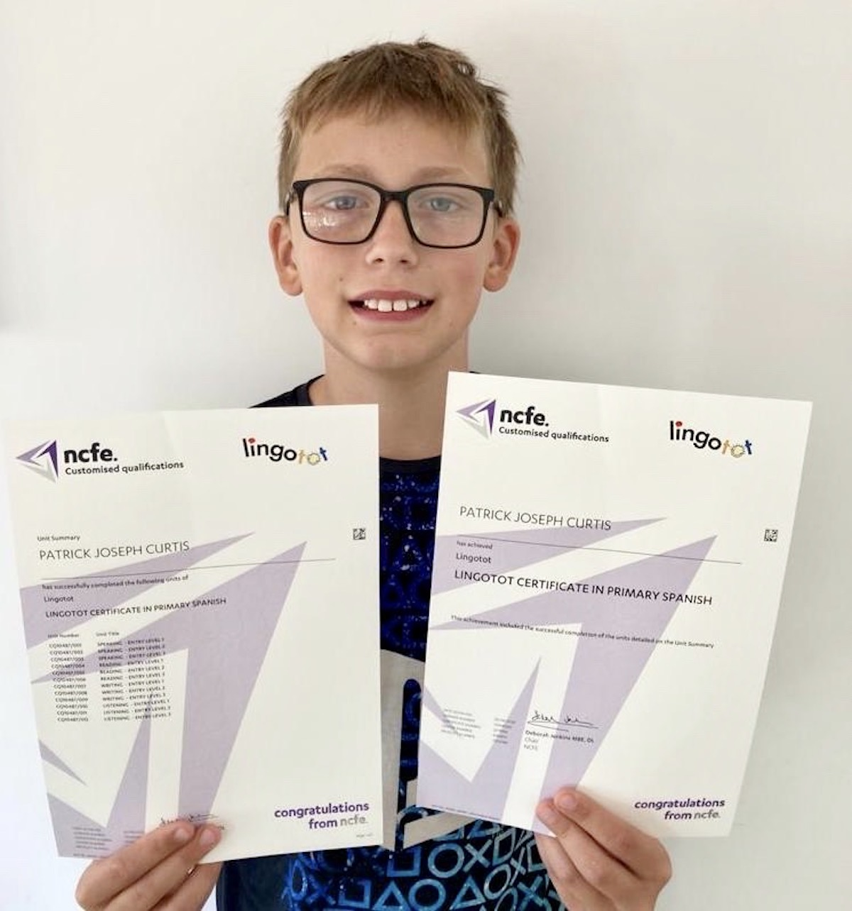 Schoolboy achieves national languages success thanks to Lingotot!